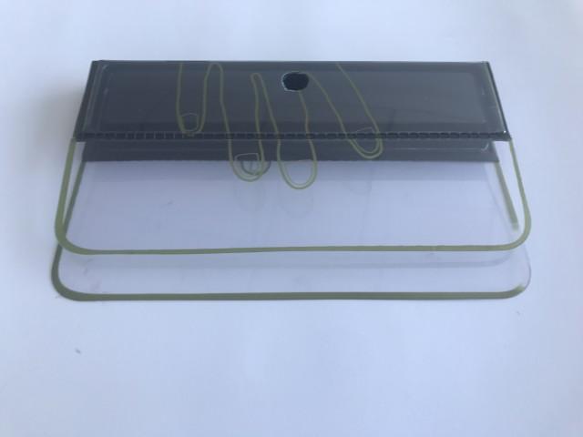 Spatule plastique à double lame flexible